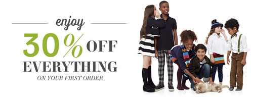 Clothing for Kids- 30% off first order